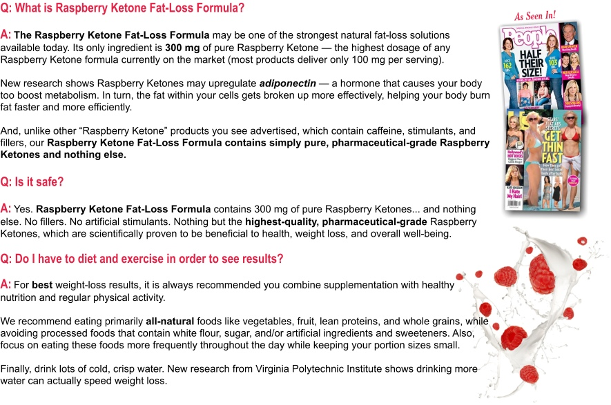 Raspberry Ketone Questions and Answers